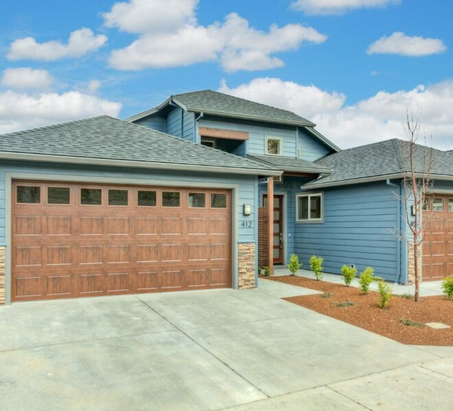 Driveway of a home in the Billings Ranch community of Ashland, Oregon