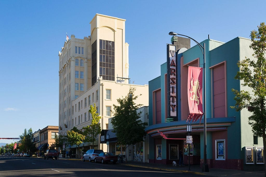 A true Ashland landmark in Ashland Oregon. Stop by and see the Varsity Theatre.