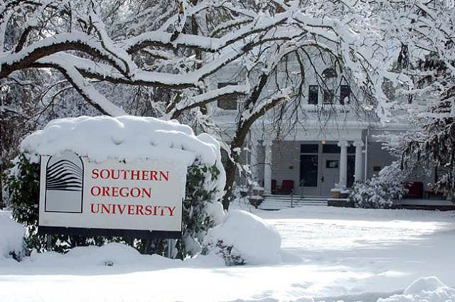 SOU in Ashland covered in snow