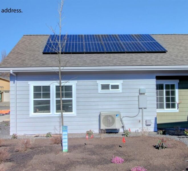 solar panels at The Garden Cottages